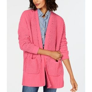 STYLE & CO Chenille Open Front Cardigan